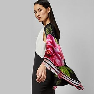 Ted Baker Kkyra Magnificent print silk cape scarf